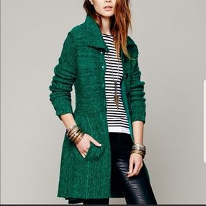 Free People Emerald Long Coat Jacket Small